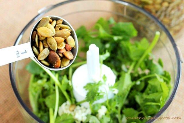 Add Pepita Seeds to food processor