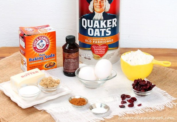 Oatmeal Cranberry Cookies ingredients
