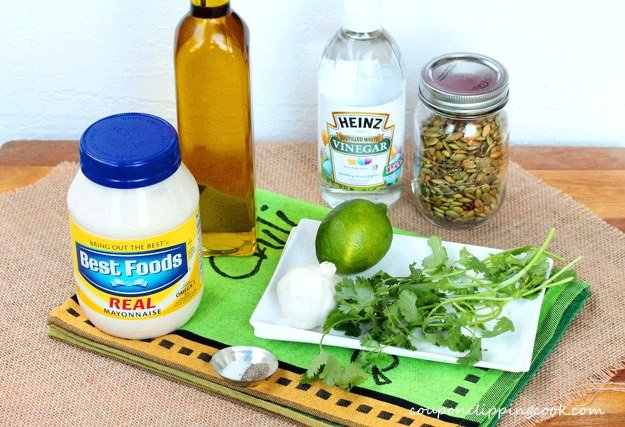 Cilantro Dressing Ingredients