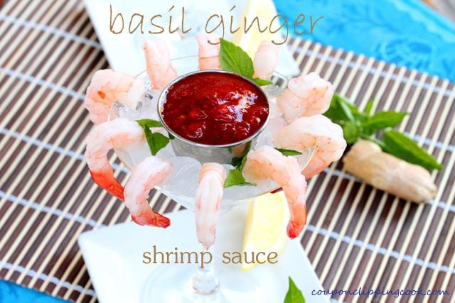 Basil Ginger Cocktail Sauce with Shrimp