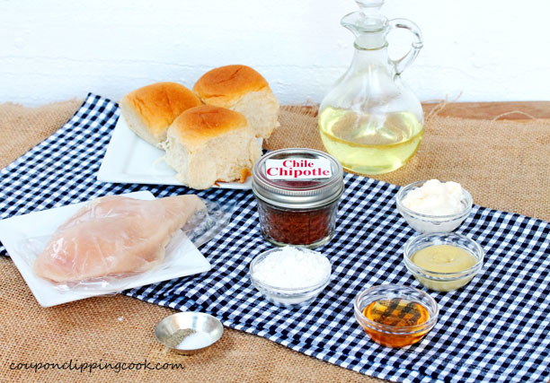 Chipotle Chicken Nugget Sliders ingredients