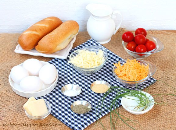 Scrambled Eggs and Cheese Sandwich ingredients