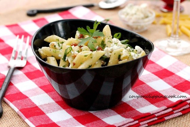 11-Mostaccioli-pasta-with-blue-cheese-and-bacon