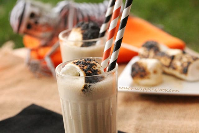 Toasted Marshmallow Milkshakes in cups