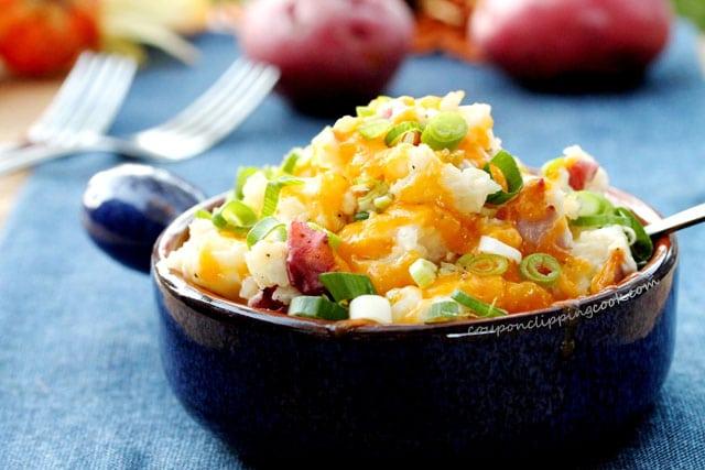 Cheesy Red Potato Mash in bowl