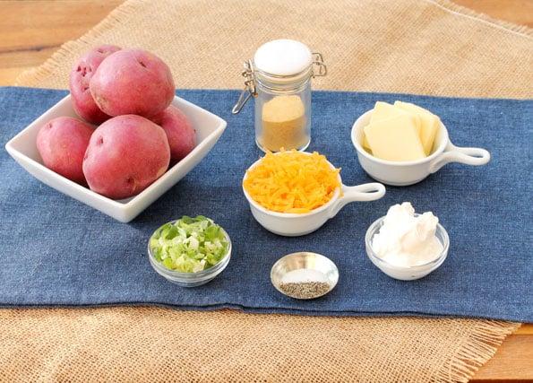 Cheesy Red Potato Mash ingredients