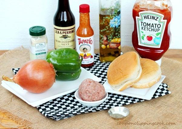 Ground Turkey Sliders ingredients