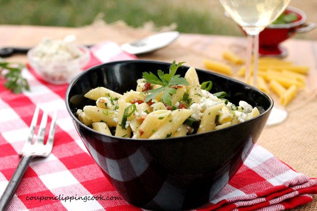 Mostaccioli Pasta with Blue Cheese