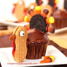 Thanksgiving Turkey Cupcake on Plate