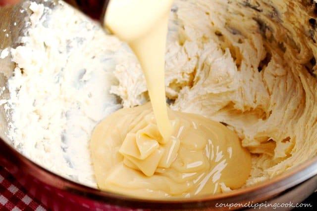Pour Condensed Milk in Bowl