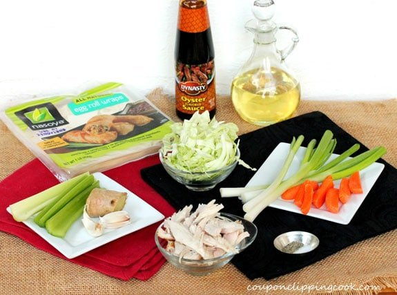 Turkey Egg Rolls ingredients