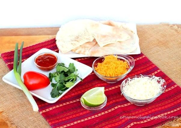 Cheesy Pita Quesadillas with Nacho Jalapenos ingredients