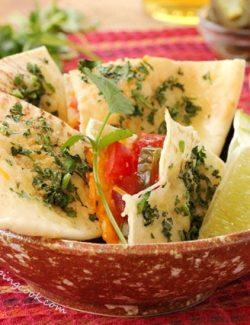 Pita Cheese Quesadillas
