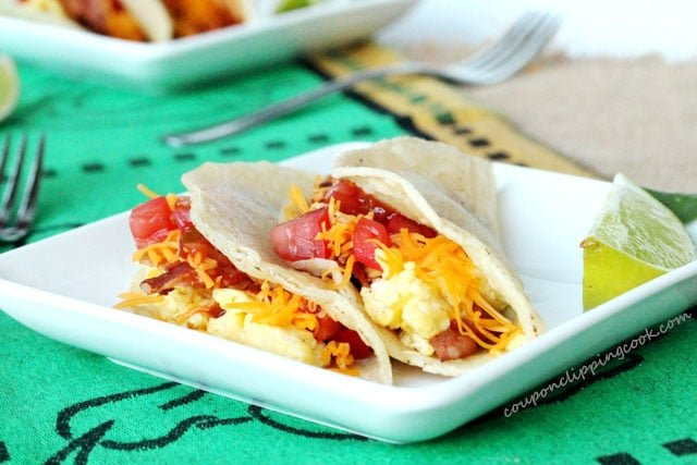 Bacon and Egg Soft Tacos
