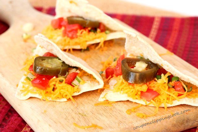 Pita Quesadillas with Jalapenos on board