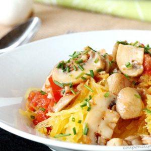 Spaghetti Squash with Mushrooms