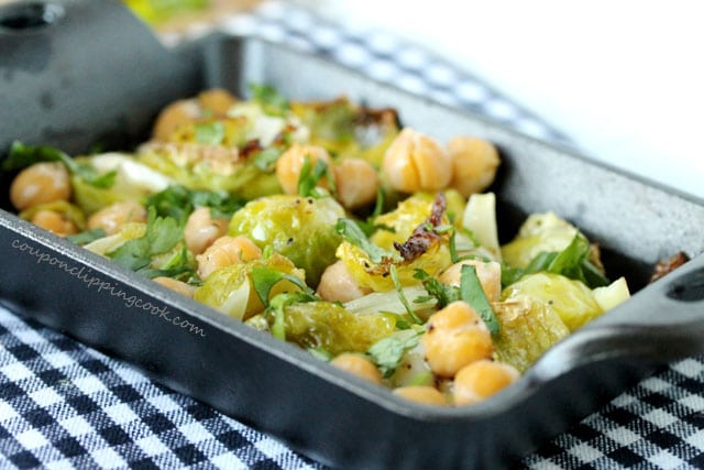 Brussels Sprouts with Chickpeas