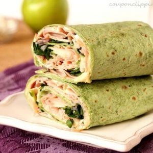 Ham Apple and Cheese Wraps