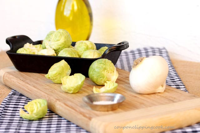 Brussels Sprouts with Garlic ingredients