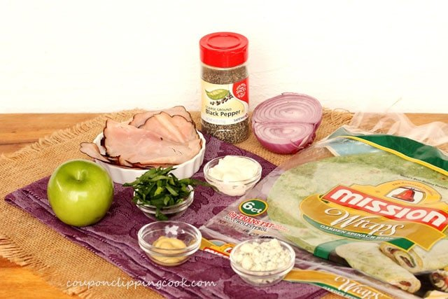 Sliced Ham, Apple and Blue Cheese Wrap ingredients