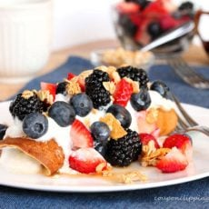 Yogurt Berry Pancake Rolls