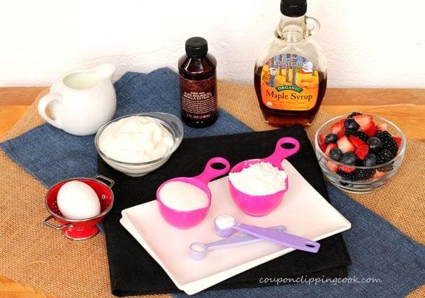 Yogurt Berry Pancake Rolls ingredients