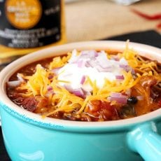 Chipotle Pasilla Chili with Meat