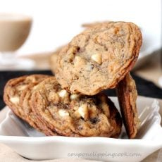Baileys Coffee White Chocolate Cookies