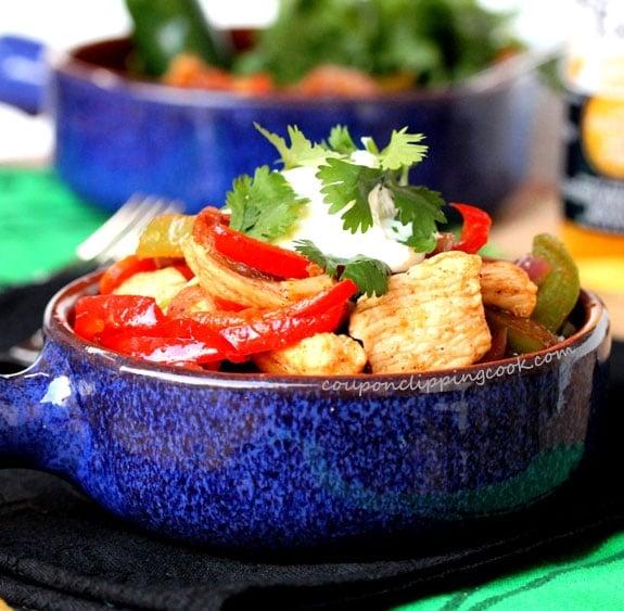 Chipotle Chicken Fajitas in bowl