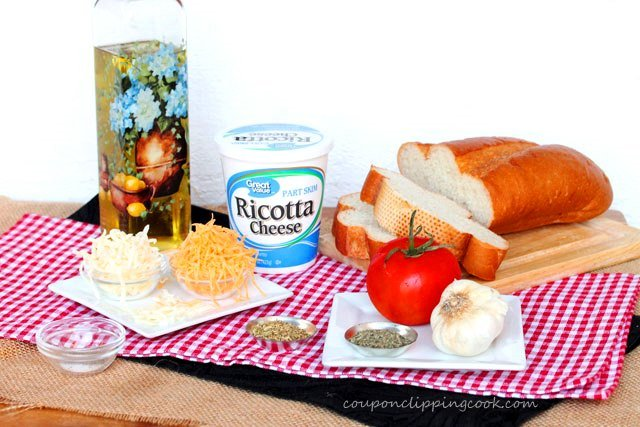 3-Cheese Garlic Bread ingredients