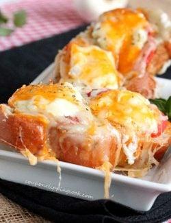 Cheesy Roasted Garlic Bread