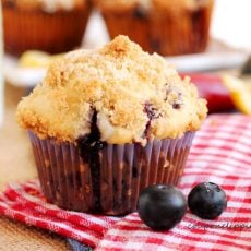 Blueberry Muffins Lemon Streusel