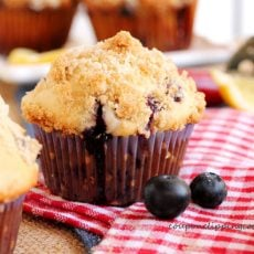 Blueberry Muffins with Lemon Streusel
