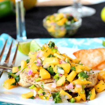Grilled Chicken Mango Salsa