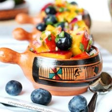 Grilled Nectarine and Blueberry Salsa