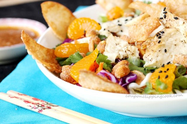 Chinese Chicken Salad with Won Tons