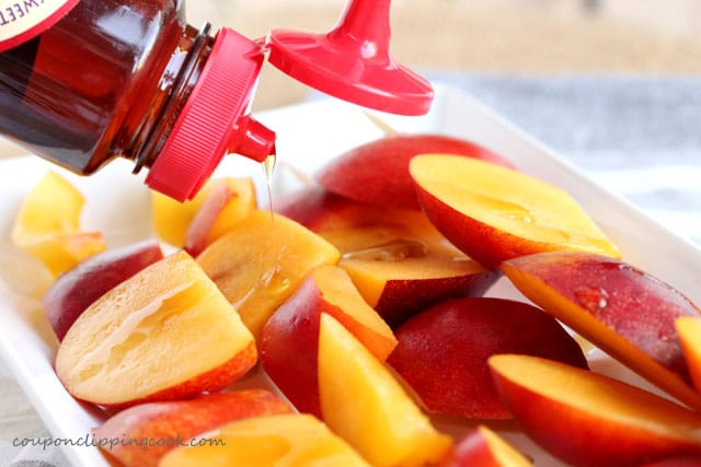 Add agave nectar on nectarines