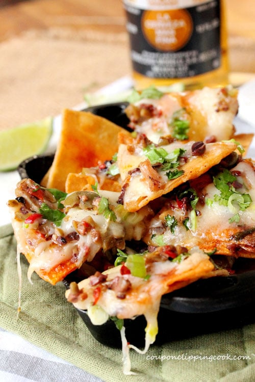 Brie Cheese and Olive Tapenade Nachos