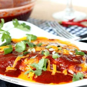 Ancho Enchilada Sauce Enchiladas