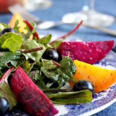 Roasted Beet and Blueberry Salad