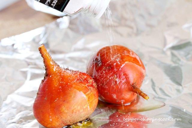 Add salt to orange beets