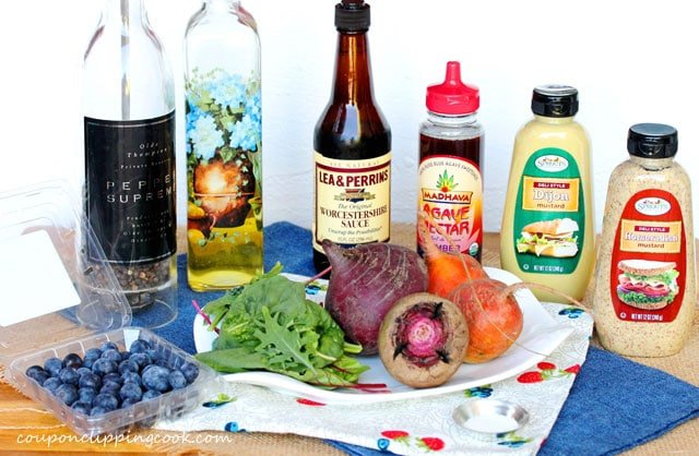 Beets and Blueberry Salad ingredients