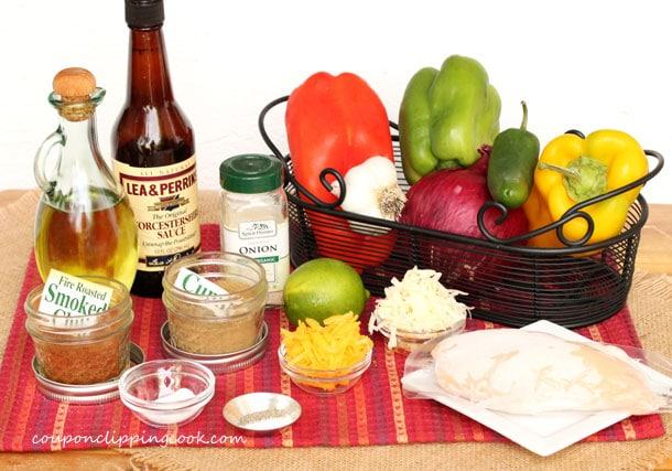 Cheesy Chicken Fajita Quesadillas ingredients
