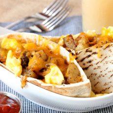 Breakfast Burrito Pita Sandwich