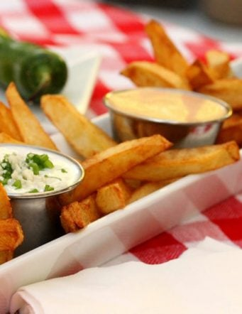 French Fries with 3 Easy Dipping Sauces