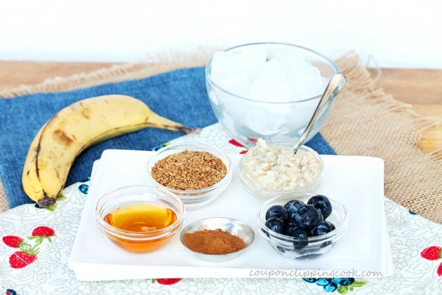 Banana Oatmeal Smoothie ingredients