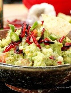 Red Bell Pepper Guacamole