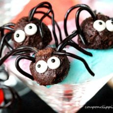 Chocolate Truffle Halloween Spiders