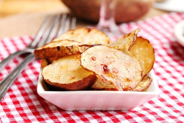 Grilled Potato Slices in bowl