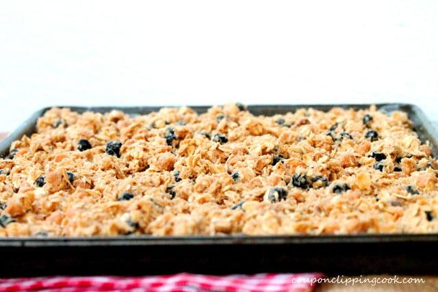Cookie dough in sheet pan